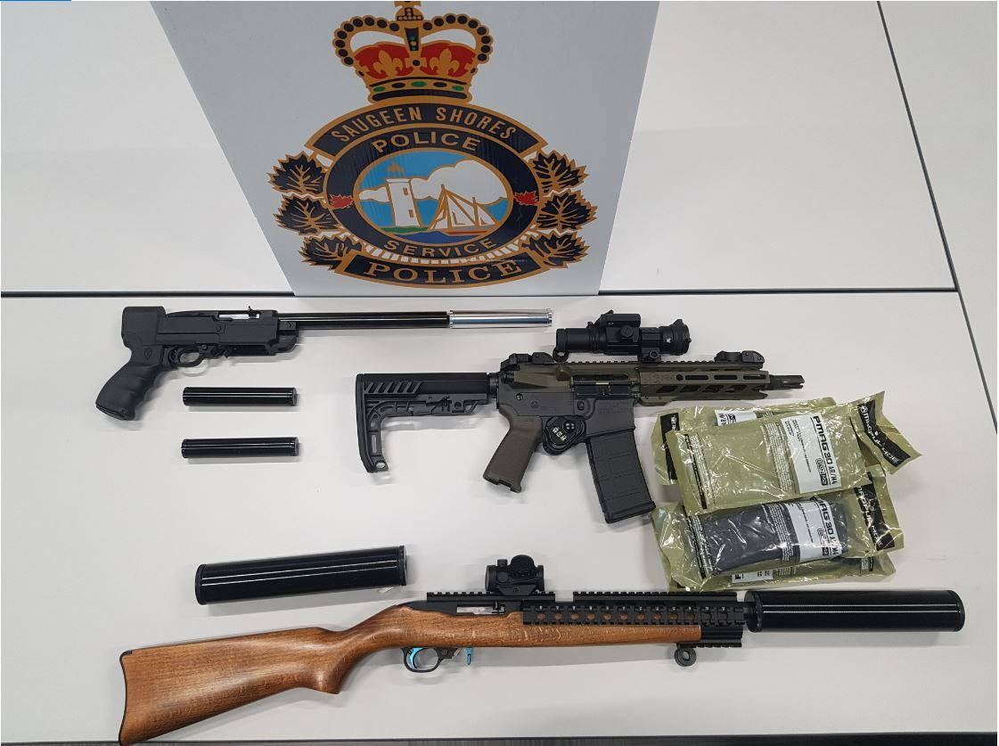 seized firearms and devices